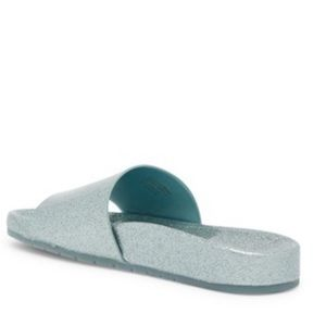 Aldo Shoes - Aldo Slides Light Blue Glitter NIB